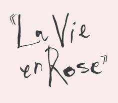"""La chanson """"La vie en rose"""", Edith Piaf, France 1946"""