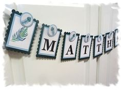 PEACOCK Personalized Name Banner  Baby Shower by AspenArtsStudio, $20.00