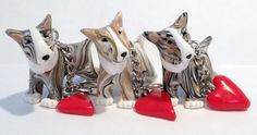 Bull Terrier key rings https://www.facebook.com/PeculiarPals/photos/a.122879801128470.30709.109383759144741/581556588594120/?type=3