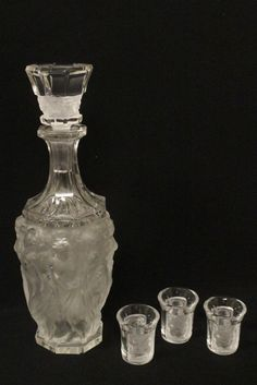 LALIQUE 4 PC. DRINKING SET