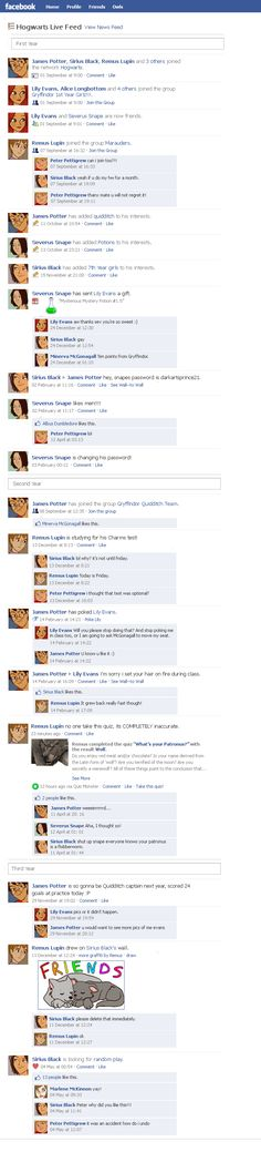 Marauders Facebook Timeline 1 by julvett.deviantart.com on @deviantART