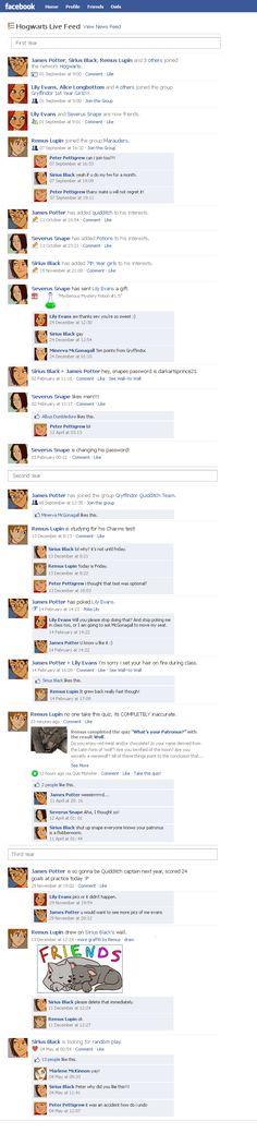 Marauders Facebook Timeline 1 by julvett.deviantart.com on @deviantART
