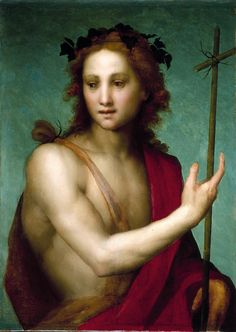 "Andrea del Sarto, ""Saint John the Baptist,"" about 1517. Worcester Art Museum."