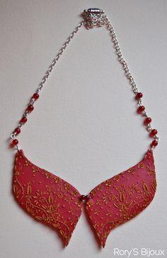 Polymer Clay Collar Necklace.  http://rorysbijoux.blogspot.it