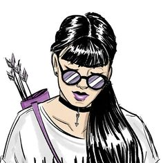 "67 Likes, 6 Comments - Fabrício S. (@fabdraws) on Instagram: ""some kate bishop (hawkeye) sketches, i haven't read a comic book in ages wow, anyways im sad and so…"""