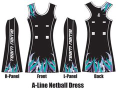 aadc65c45ce Sublimated Netball Dress - Custom Netball Dress Netball Uniforms, Netball  Dresses, Uniform Ideas,