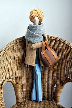 Alison by made by agah, via Flickr ... Bag and doll hair style