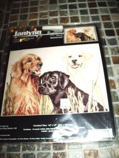 Janlynn-Counted-Cross-Stitch-Kit-58-5-Retrievers-new-in-Paclage