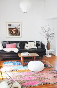"""In a feng shui sense you can use throw rugs to add personality to a space and """"ground"""" it... and much more...!"""