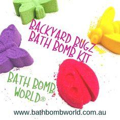 Bath Bomb World® Backyard Bugz Bath Bomb Kit Bath Bomb Kit, Presents For Girls, Sweet Almond Oil, Fragrance Oil, Bath Bombs, Food Processor Recipes, Backyard, Patio, Backyards