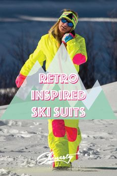 Neon ski gear, 80s ski gear, vintage ski gear - Shinesty.com has everything you need for one rad Gaper Day.