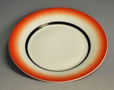 Plate by Nora Gulbrandsen for Porsgrund Porselen. In production between Machine Age, Norway, Art Deco, Designers, Porcelain, Pottery, Plates, Ceramics, Tableware