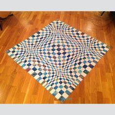 Quilt, strikk og heklegleder: 3D/OP Quilt ala Mona - arbeidsbeskrivelse