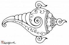 Image result for shankh chakra drawing Kerala Mural Painting, Madhubani Painting, Tattoo Painting, Madhubani Art, Indian Folk Art, Buddha Art, Outline Drawings, Mural Art, Murals