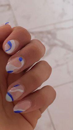 Aycrlic Nails, Blue Nails, Swag Nails, Hair And Nails, Cute Acrylic Nails, Acrylic Nail Designs, Nail Art Designs, Blue Wedding Nails, Nail Art Pictures