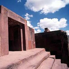 Puma punku, Bolivia. Oldest structures on EARTH. Aprox. 14-17,000 years old & built with construction techniques unknown. Modern diamond tipped drills powered by computers and assisted with heavy machinery today would have great difficulty replicating the stone work. Mysterious!! Google it. It's mind blowing.