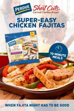 Easy Chicken Fajitas, Chicken Fajita Recipe, Chicken Recipes, Mexican Food Recipes, Dinner Recipes, Cooking Recipes, Healthy Recipes, Short Cuts, How To Cook Chicken