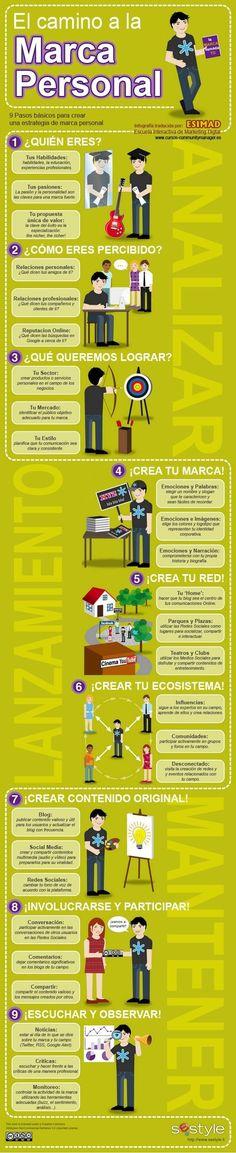 9 pasos para crear tu Marca Personal #infografia
