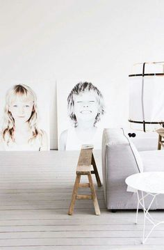 DIY overexposed portraits
