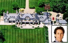 4. Jerry Seinfeld - One of the biggest names in TV in the 1990s, it only goes to say that Seinfeld just had to get the perfect house to support his name. Purchased from Billy Joel in 2000 for a record-breaking amount of $32 million, it comes with the waterfront manor appeal that is considered as majestic. Measuring to 14 acres of landscape, the actual house is spread to three buildings with 24 rooms, 8 fully furnished baths, and 5 semi-furnished ones.