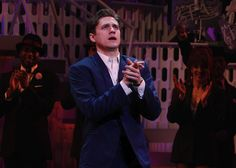 aaron tveit final curtain call for 'catch me if you can.'  too many feels.