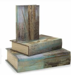 IMAX Field Of Dreams Book Boxes - Set of 3 - Set of 3 storage boxes, with beautiful covers that are simple and sophisticated. Book Storage, Storage Boxes, Storage Sets, Decorative Objects, Decorative Boxes, Home Office Furniture Sets, Field Of Dreams, Dream Book, Wave Design