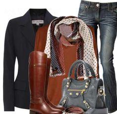 Bag blazer boots