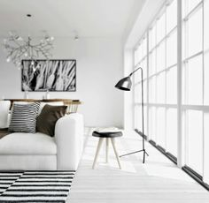 For the love of stripes nordic living black and white stripy rug photo by Prue Ruscoe