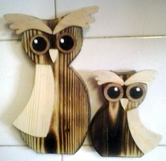 A pair of owls from reclaimed wood. self made.