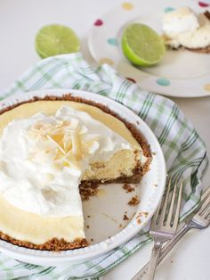Key lime pie with homemade graham cracker crust sweet-treats