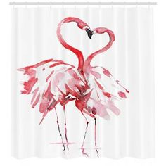 Ebern Designs Krista Flower Purple Ombre Long Leaves Water Colored Print With Calming Details Image Single Shower Curtain Flamingo Shower Curtain, Vinyl Shower Curtains, Shower Curtain Sets, Kiss And Romance, Shower Liner, Purple Ombre, Home Decor Furniture, Pink, Bathroom Kids