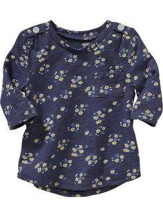 Floral 3/4-Sleeve Tees for Baby Product Image