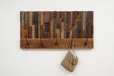 Coat Rack Reclaimed wood art 36x185x45 by CarpenterCraig on Etsy, $290.00