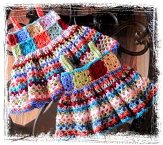 Hippy Days Crochet Dress pattern by Etsy shop owner. Kind of like the one I am making. Except mine will have a fabric skirt.