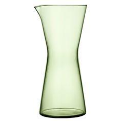 Forest green Kartio pitcher by Iittala. Design by Kaj Franck.