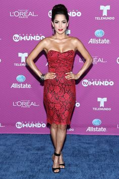 Pin for Later: See All the Style From the Blue Carpet at the 2015 Premios Tu Mundo Carmen Villalobos