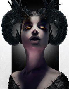 beautiful art Haunting Fantasy Female Portraits - Rob Shields Paints Beautiful Women with Nightmarish Features (GALLERY) Dark Fantasy, Fantasy Art, Fantasy Witch, Bild Tattoos, Arte Obscura, Desenho Tattoo, Angels And Demons, Horror Art, Fantasy Characters