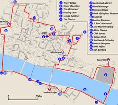 City of London Self Guided Walk Map