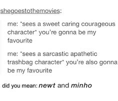 Or Jem Carstairs and Will Herondale in the first TID book