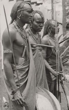Maasai Warrior Kenya 1950's
