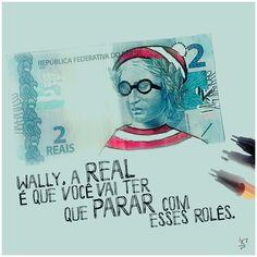 Talvez, agora seja mais fácil achar o Wally, nessa crise.   #medianeras #odinheiroestacaro #wally