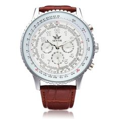 This Sewor Mechanical Precision Watch is highly quality.This Leather Men Wrist Watch is not easy to tarnish.Eye-catching when wear this wrist watch in the street,very charming. Fossil Watches For Men, Rolex Watches, Mens Watches Leather, Leather Men, Black Leather, Best Affordable Watches, Skeleton Watches, Mechanical Watch, Automatic Watch