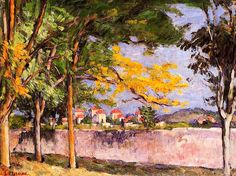 The Road (also known as The Ancient Wall) / Paul Cezanne - circa 1875-1876