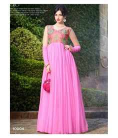 61e57180837e eWaydeal Pink Net Gown - Buy eWaydeal Pink Net Gown Online at Best Prices  in India