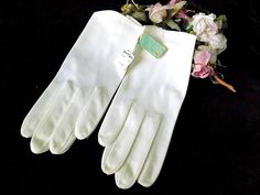 Vintage White Gloves Heavenly Touch by Aris NIP for Bride or Formal by EyeSpyGoods on Etsy