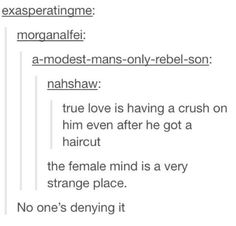 Because it's true..there's something about when a guy gets a haircuts that girls don't like...