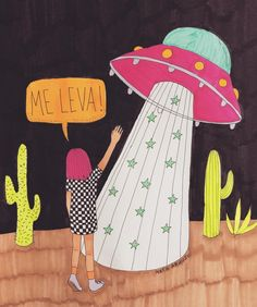 Eu na vida 😂😂 Aliens And Ufos, The Little Prince, Cool Posters, Art Sketchbook, Girl Power, Sculpture Art, Art Drawings, Illustration Art, Illustrations