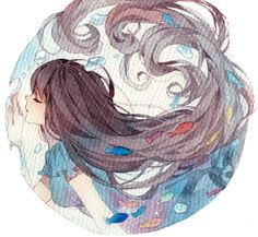 anime Beautiful watercolor wet onto dry radial design - image . Manga Drawing, Manga Art, Manga Anime, Drawing Eyes, Art And Illustration, Pretty Art, Cute Art, Kawaii, Wie Zeichnet Man Manga