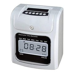 Office Supplies for Women LCD Screen Electronic Time Clock Paper Card English Attendance Machine Punch Machine, Support Music Bell Stationery Set, Price: (as of - Details) The school supplies such as pen/ brushes/ tape/ notebook set/ stationery storage box/ pencil sharpeners/ clip/ card holder/ s...,... New Electronic Gadgets, Electronics Gadgets, School Supplies, Office Supplies, Gadget Store, Time Clock, School Office, Stationery Set, Digital Alarm Clock
