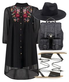 """""""Untitled #5319"""" by rachellouisewilliamson on Polyvore featuring Topshop, Madewell and Proenza Schouler"""